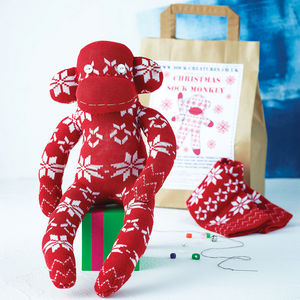 Christmas Sock Monkey Craft Kit - stocking fillers under £15