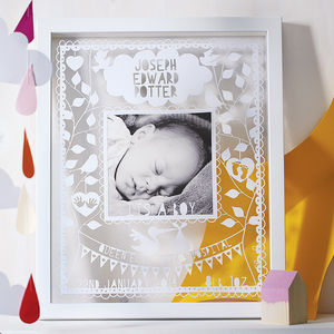 Personalised New Baby Papercut - art & pictures