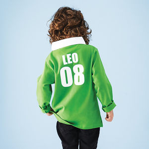 Personalised Child's Rugby Shirt - clothing