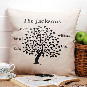 Family Tree Cushion Square - decorative accessories