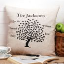 Family Tree Cushion Square