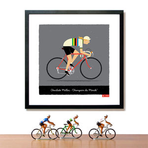 Personalised Female Bike Art Print