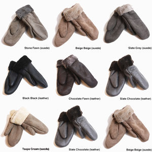 Adults Sheepskin Winter Mittens - hats, scarves & gloves