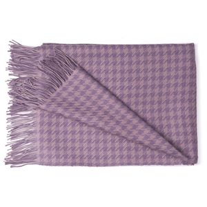 The Alpaca Co. Houndstooth Throw - blankets & throws