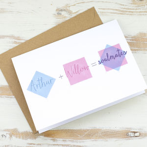 Personalised Love Equation Card