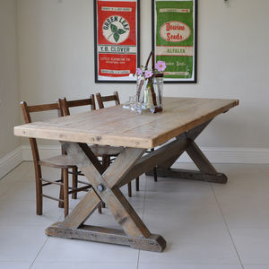 Reclaimed Timber Country Dining Table - furniture