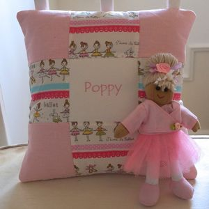 Patchwork Ballerina Cushion Gift Set - decorative accessories