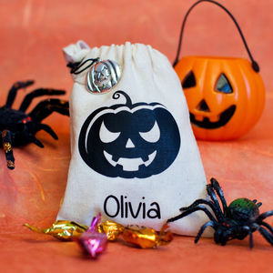 Personalised Halloween Favour Bag - trick or treat bags