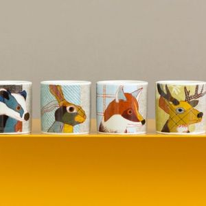 Beastie Stag, Hare, Badger Fox Egg Cups - easter home