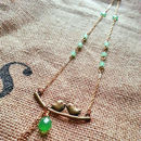 Vintage Jade Green Bird Necklace
