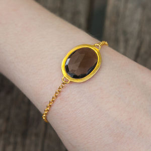 Smokey Topaz Friendship Bracelet - women's jewellery