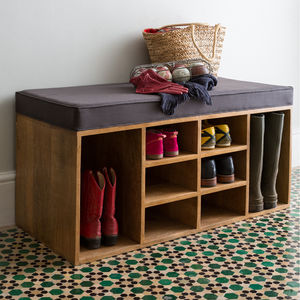 Shoe Storage Bench - boxes, trunks & crates