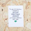 Outlaw Christmas Jumpers Christmas Card