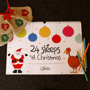 Personalised 24 Sleeps Until Christmas Book - toys & games