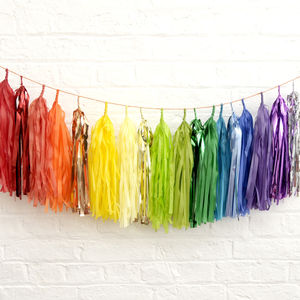 Tissue Tassel Garland - summer sale