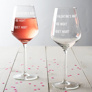 Valentine's Night Wine Glass - gifts for the home