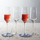 'Hip Hip Hooray' Champagne Glass Set - summer shop