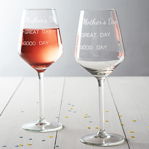 'Mother's Day' Measures Wine Glass - tableware
