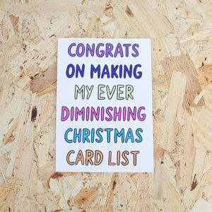 Congrats On Making My Christmas Card List Card
