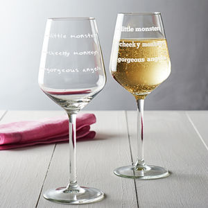 'Cheeky Monkeys' Wine Glass - tableware