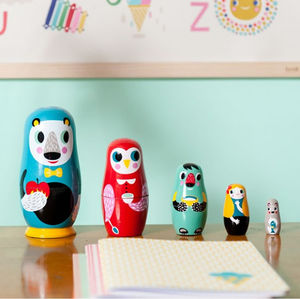 Wooden Nesting Dolls - board games & puzzles
