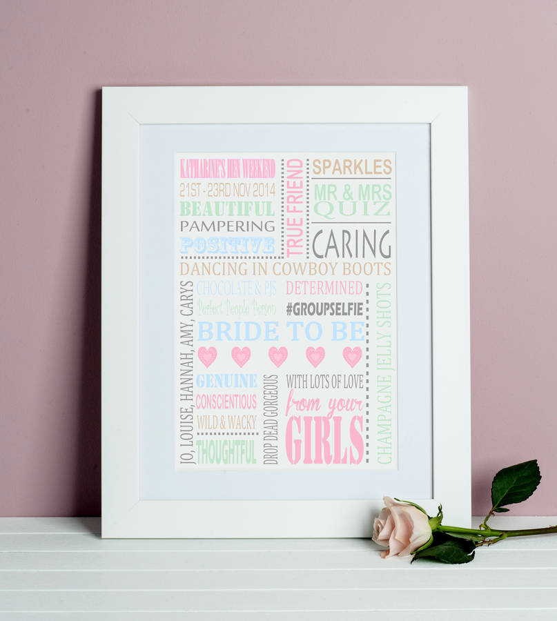 personalised \'hen party\' print by lisa marie designs ...