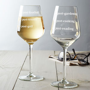 Personalised Hobbies Wine Glass