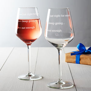 Personalised 'Just Right For Mum' Wine Glass