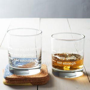 Personalised 'Just Right For Dad' Measures Glass - drink & barware