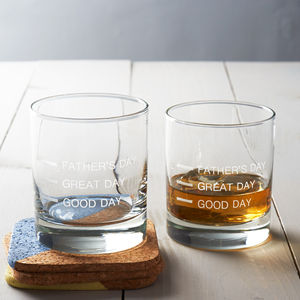 'Father's Day' Measures Glass - glassware