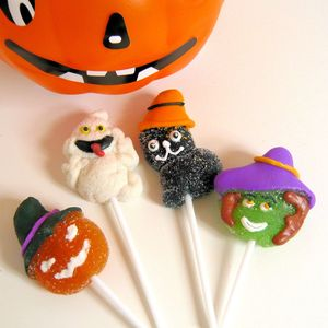 Four Halloween Jelly Lollies - halloween