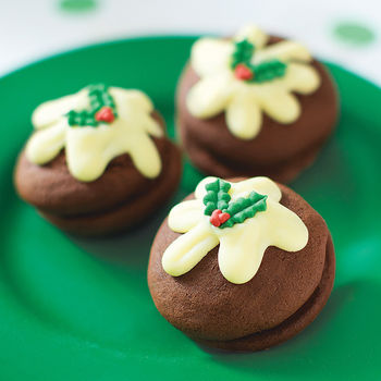 Christmas Pudding Whoopie Pies