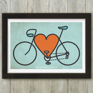 Bike Lover Personalised Cycling Print