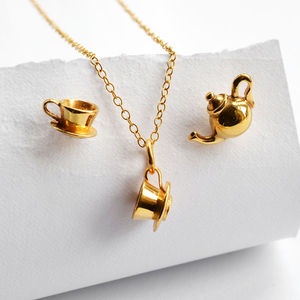 Gold Tea Time Jewellery Set - women's jewellery