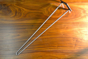 Pack Of Four Two Rod Chrome Hairpin Legs - furniture