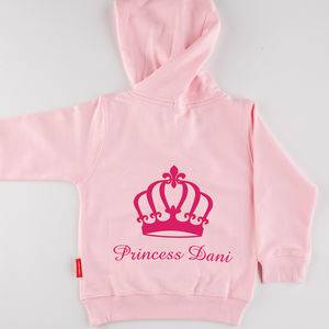 Personalised Girl's Princess Hoodie