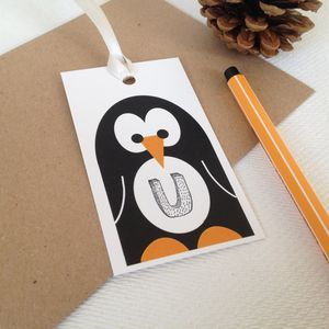 Personalised Penguin Gift Tag