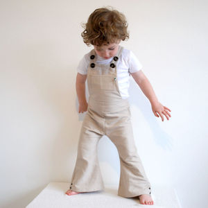 Children's Organic Cotton Flared Dungarees - clothing