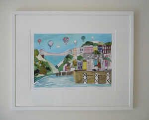 Clifton Balloons Bristol Limited Edition Print - architecture & buildings