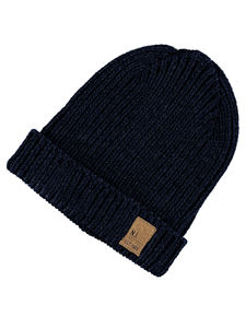 Masso Navy Knit Hat