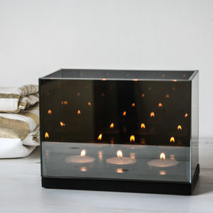 Reflection Candle Holder, Triple - christmas lighting
