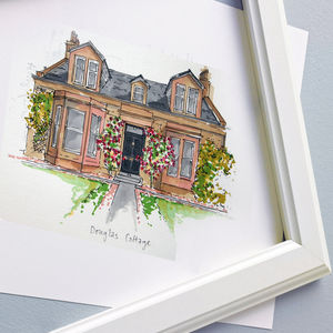 Personalised House Illustration - gifts for families