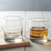 Personalised Drinks Measure Glass - father's day