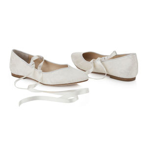 Bluebell Flat Ivory Lace Wedding Shoes