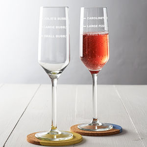Personalised Champagne Flute - engagement gifts