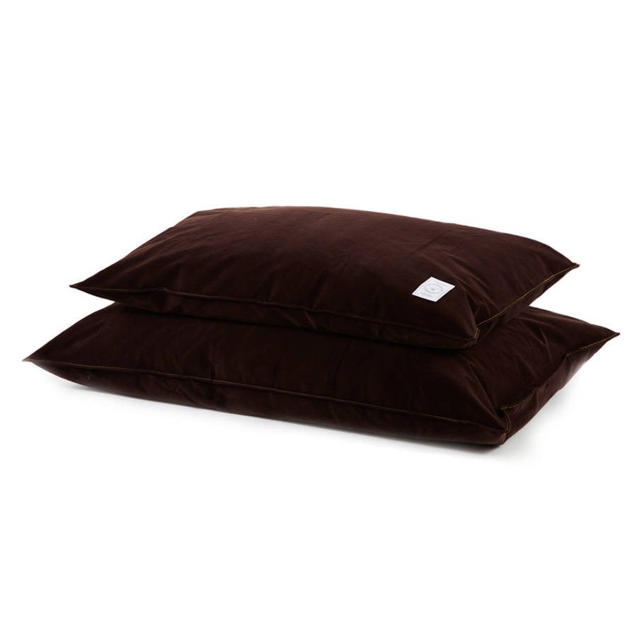 Chocolate Brushed Cotton Dog Bed