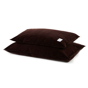 Chocolate Brushed Cotton Dog Bed - dogs
