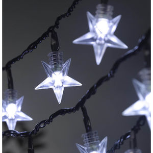 100 LED Battery Star String Lights - christmas lights