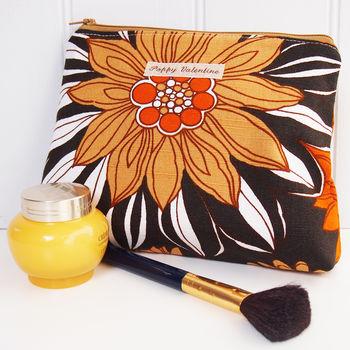 Make Up Bag Flower Power Print