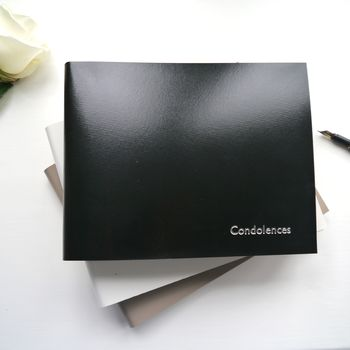 Personalised Leather Book Of Condolence